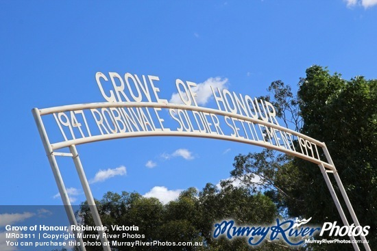 Grove of Honour, Robinvale, Victoria