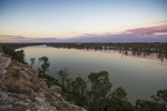 Sunset over the Murray River at Blanchetown, South Australia