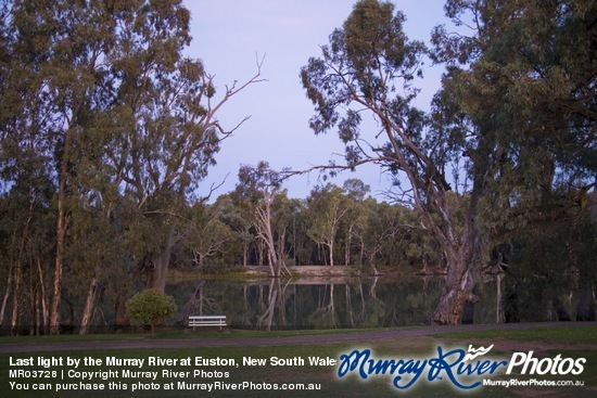 Last light by the Murray River at Euston, New South Wales