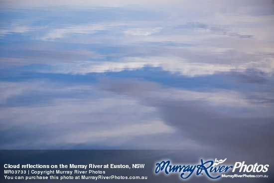 Cloud reflections on the Murray River at Euston, NSW
