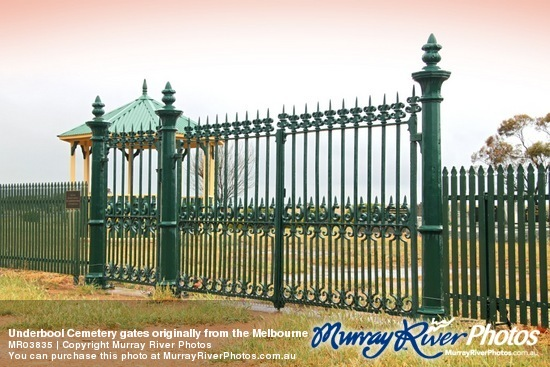 Underbool Cemetery gates originally from the Melbourne Botanic Gardens