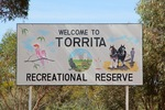 Torrita Recreational Reserve sign, Victoria