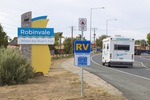 RV and Robinvale signs, Victoria