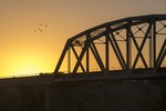 Murray Bridge on sunrise, South Australia