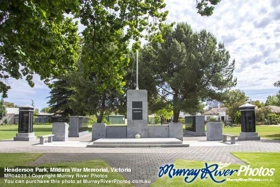 Henderson Park, Mildura War Memorial, Victoria