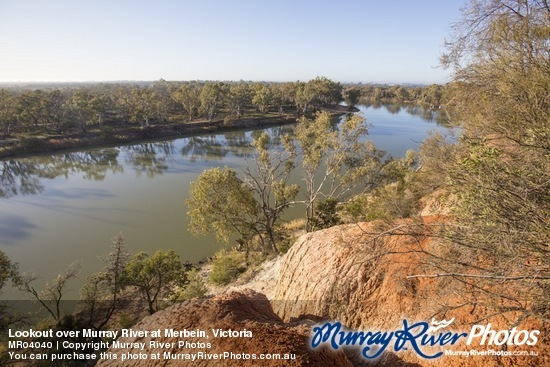 Lookout over Murray River at Merbein, Victoria