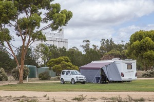 RV in Lameroo campground, South Australia