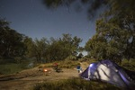 Camping by the Darling River, NSW
