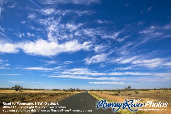 Road to Pooncarie, NSW, Outback