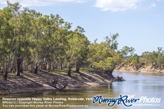 Reserver opposite Happy Valley Landing, Robinvale, Victoria