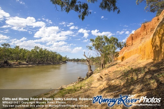 Cliffs and Murray River at Happy Valley Landing, Robinvale, Victoria