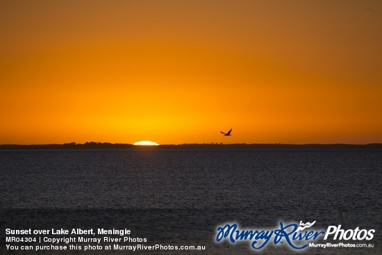Sunset over Lake Albert, Meningie