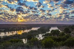 Sunrise over the Murray River at Walker Flat