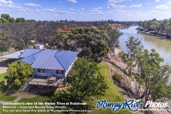 Lockmaster's view of the Murray River at Robinvale