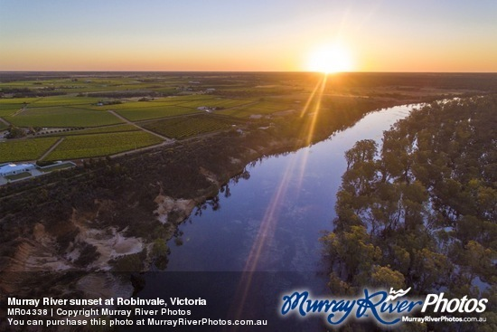 Murray River sunset at Robinvale, Victoria
