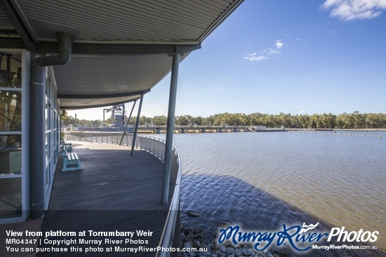 View from platform at Torrumbarry Weir