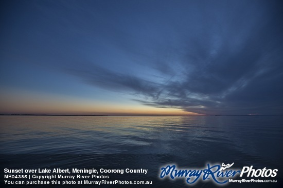 Sunset over Lake Albert, Meningie, Coorong Country