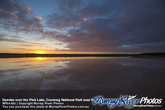 Sunrise over the Pink Lake, Coorong National Park near Salt Creek