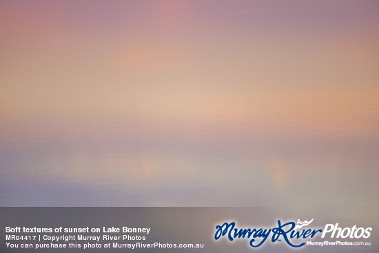 Soft textures of sunset on Lake Bonney
