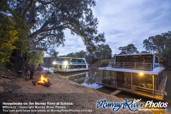 Houseboats on the Murray River at Echuca