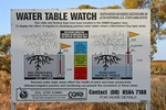 Water Table Watch sign in Loxton