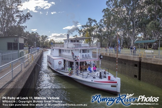 PS Ruby at Lock 11, Mildura, Victoria