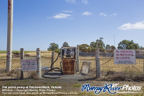 Old petrol pump at Patchewollock, Victoria