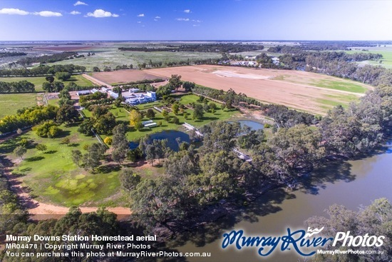 Murray Downs Station Homestead aerial
