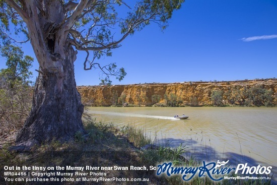 Out in the tinny on the Murray River near Swan Reach, South Australia