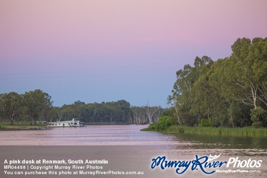 A pink dusk at Renmark, South Australia